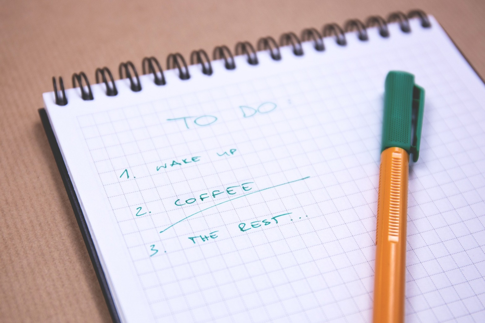 To Do List: Wake up, Coffee, The Rest...